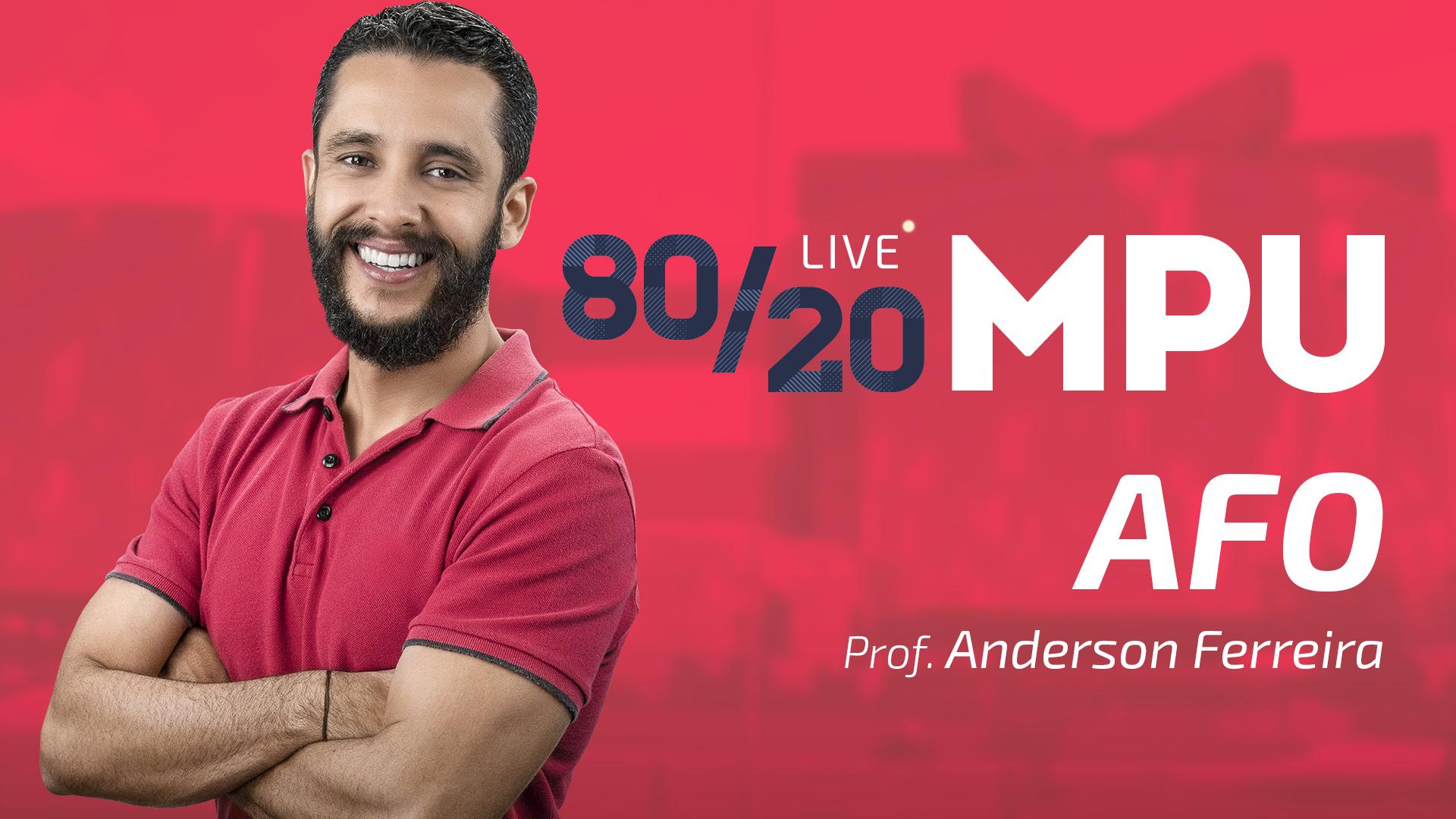 80/20 MPU AFO para Técnico e Analista