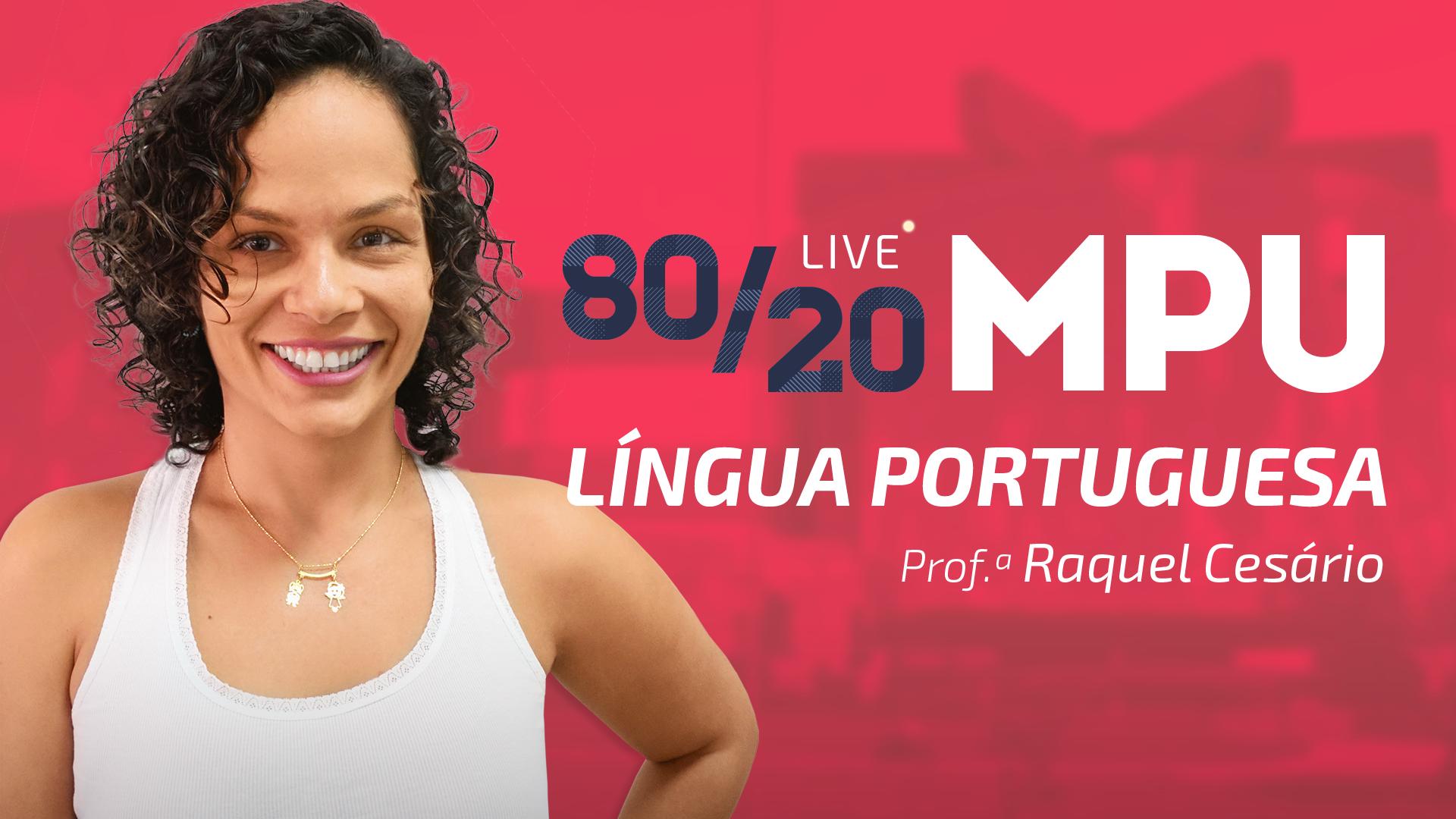 80/20 MPU Língua Portuguesa para Técnico e Analista